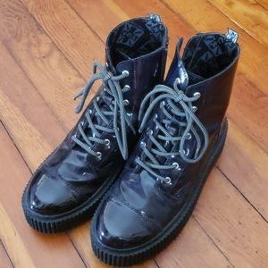 TUKs Black Hologram Casbah Platform Boot Unisex